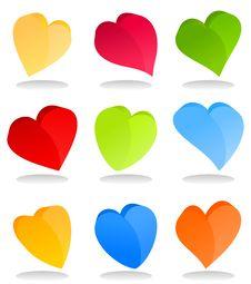 Free Heart Icon9 Royalty Free Stock Photos - 19203198