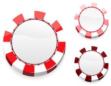 Free Blank Red Casino Chips Royalty Free Stock Image - 19203536