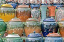 Traditional Thai Pottery. Royalty Free Stock Photo