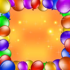 Free Balloons And Gold Stars Stock Images - 19204644