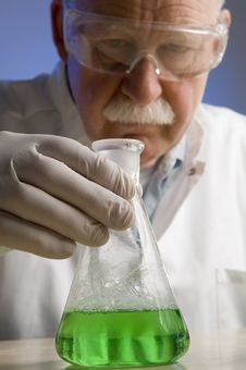 Chemist Working With Chemicals Royalty Free Stock Photos
