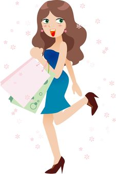 Free Woman Holding Shopping Bags Royalty Free Stock Photos - 19206188