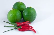 Lime And Chilli Royalty Free Stock Photography