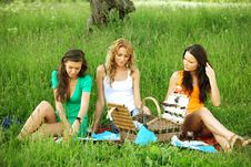 Free Girlfriends On Picnic Royalty Free Stock Photo - 19206845