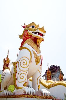Singha Thai Statue Model Royalty Free Stock Photos