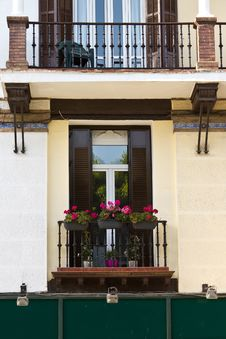 Free Flowers In A Balcony At Andalusia, Spain Royalty Free Stock Image - 19207096