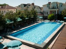 Outdoor Swimming Pool At The Hotel Royalty Free Stock Image