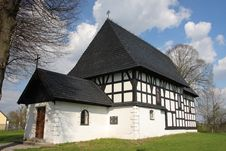 Old Timber Framing Church Stock Image