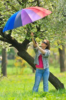 Free Beautiful Woman With Umbrella Stock Photos - 19208383