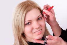 Free Makeup Artist At Work Stock Photography - 19208532