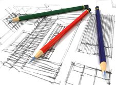 Free 3d Pencils And Sketch Stock Photography - 19209092