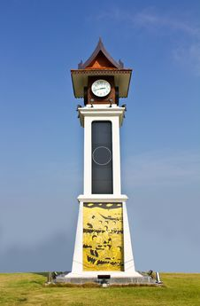 Free Thai Style Clock Tower Royalty Free Stock Photo - 19209325
