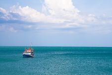 Free Fishing Boat In Thailand Stock Photo - 19209340