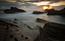 Free Dramatic Seascape View Stock Photography - 19209342