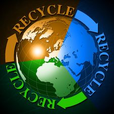 World Recycle Royalty Free Stock Images
