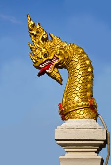 Free Golden Naga Head Stock Images - 19209734
