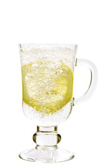 Mineral Water In A Glass With A Lemon Royalty Free Stock Images