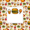 Free Fast Food Card Royalty Free Stock Images - 19217409