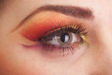 Free Fantastic Make Up Eye Stock Image - 19210301