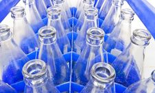 Water Bottles Are Stored In The Bottle Used Stock Photos