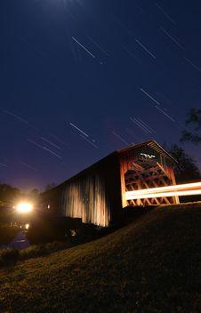 Free Covered Bridge Under The Stars Stock Photo - 19210360
