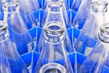 Water Bottles Are Stored In The Bottle Used Royalty Free Stock Photography