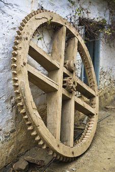 Free Wooden Cogwheel Stock Image - 19210591