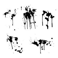 Free Black Ink Splashes Stock Image - 19210821