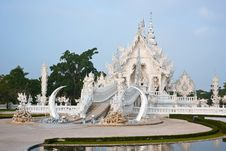 Free Wat Rong Khun,Thai Art  Temples Culture. Royalty Free Stock Photo - 19212625