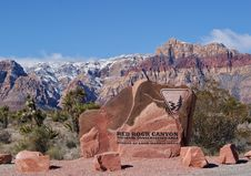 Entrance Sign To Red Rock Canyon Royalty Free Stock Photo