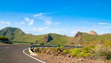 Free Road In Tenerife Royalty Free Stock Photography - 19213257