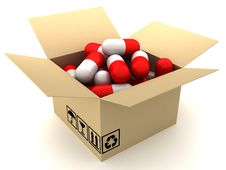 Free Box And Capsules Stock Photo - 19213350