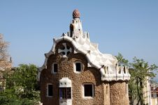 Free The Building In Park Guell In Barcelona Stock Photography - 19213352