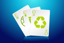 Free Eco Playing Card Stock Images - 19213464