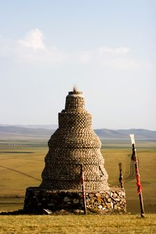 Free Inner Mongolia Worship Pagoda Royalty Free Stock Photography - 19213617