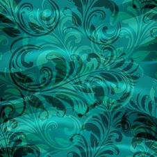 Free Spring Floral Pattern On Blue Royalty Free Stock Images - 19213739