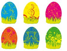 Free Eastern Rabbit Searching Eggs Color Royalty Free Stock Images - 19213829