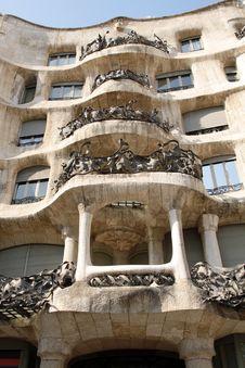 Free Casa Mila - Hotel Gaudi In Barcelona Stock Image - 19213891