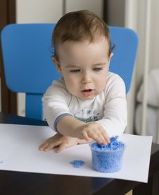 Free Baby And Plasticine Royalty Free Stock Photography - 19214517