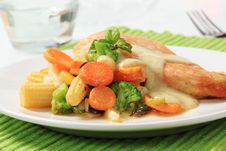 Free Chicken Breast And Mixed Vegetables Stock Image - 19214881