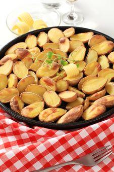 Roasted Potatoes Royalty Free Stock Photography