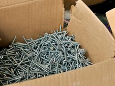 Free Box Of Screws Stock Photography - 19216042