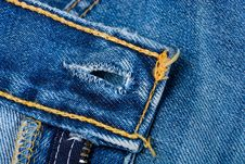 Free Blue Denim Jeans Stock Photography - 19216512