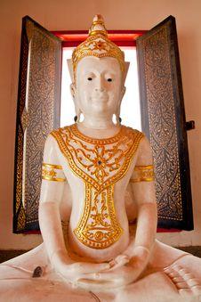 Free White Cambodia Style Buddha Stock Image - 19216911