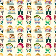 Free Seamless Office Worker Tea Time Pattern Stock Photo - 19217330