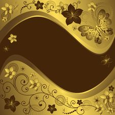 Free Decorative Golden And Brown Frame Royalty Free Stock Image - 19217706