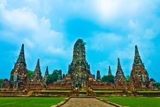 Wat Chaiwatthanaram In Ayutthaya, Thailand Stock Photos