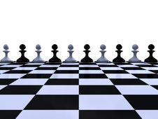 Free Rank Of Black And White Pawns Royalty Free Stock Photo - 19218705