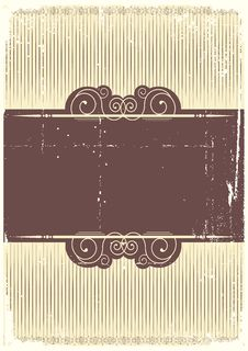 Free Vintage Background With Vignettes. Royalty Free Stock Photo - 19218895