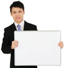 Businessman With Board Stock Images